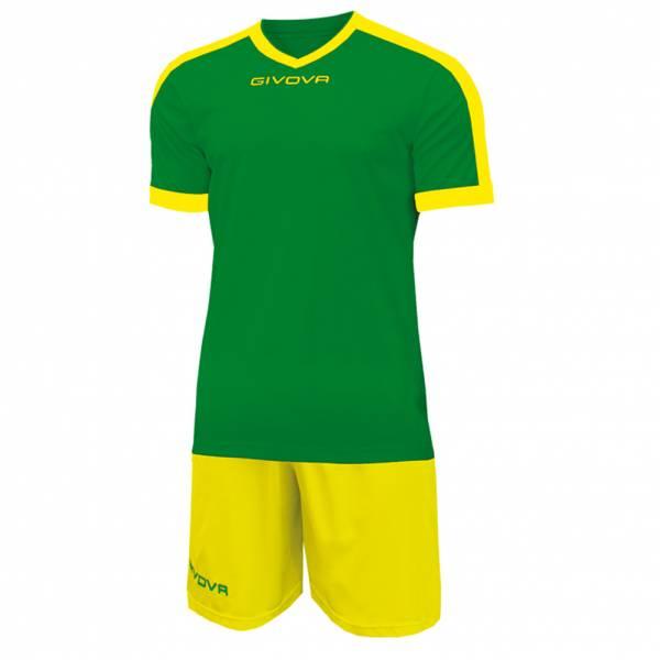 Givova Kit Revolution Fußball Trikot mit Short grün gelb