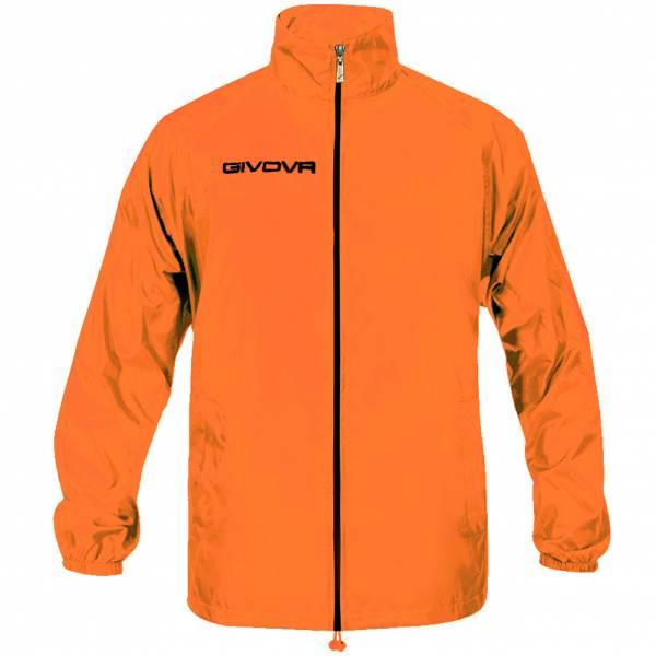 """Givova Veste de pluie """"Rain Basico"""" néon orange"""