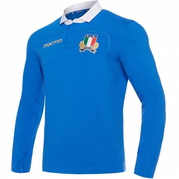 Italia FIR macron Uomo Rugby Maglietta per il gioco in casa a maniche lunghe 58085015