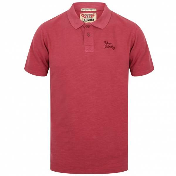 Tokyo Laundry Don Slub Pique Cotton Herren Polo-Shirt 1X10736 Rumber Red