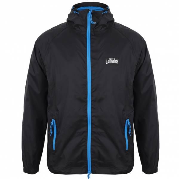 Tokyo Laundry Conroy High Packaway Windbreaker Herren Jacke 1J10742 Black