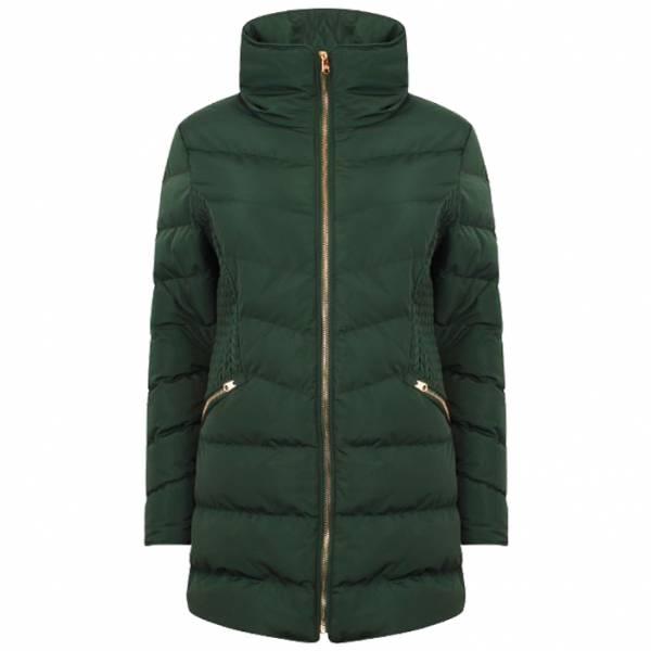Tokyo Laundry Neck Longline Damen Puffer Jacke 3J11546 Green