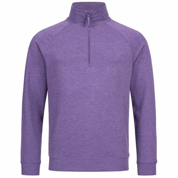 RUSSELL 1/4 Zip Men Sweatshirt 0R282M0-Purple-Marl