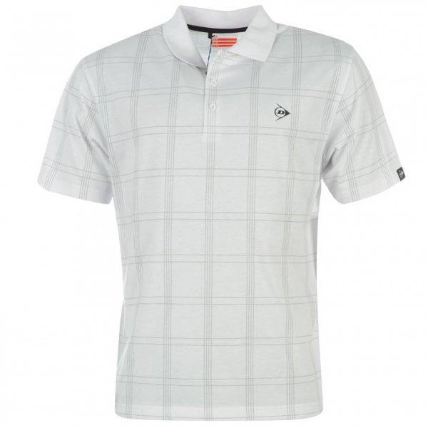 Dunlop Golf Tour Herren Polo-Shirt kariert weiß