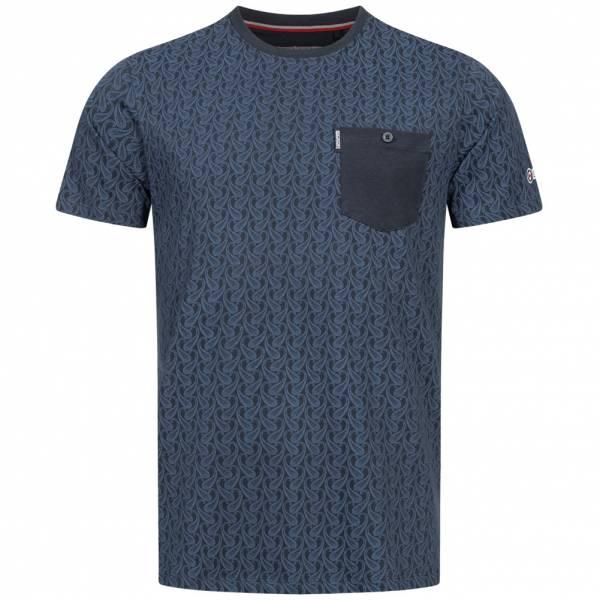 Lambretta Paisley Allover Print Herren T-Shirt SS6807-NAVY
