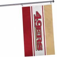 San Francisco 49ers NFL horizontale Fan Flagge 1,52m x 0,92m FLGNFHRZTLSF