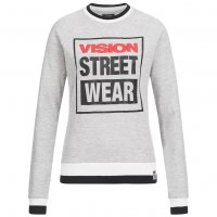 Vision Street Wear Damen Crew Neck Sweatshirt Sweat CL2710 grey marl
