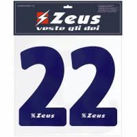 Zeus Nummern-Set 1-22 zum Aufbügeln 25cm Senior navy