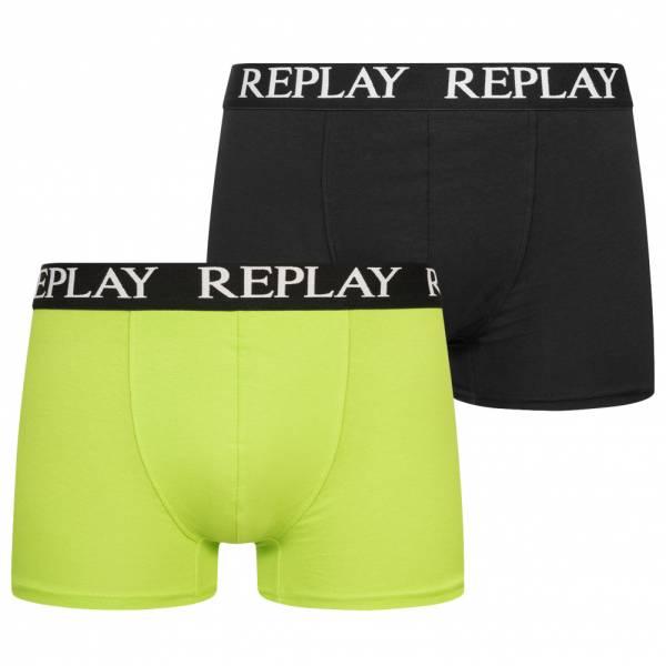 REPLAY Trunk Boxer Herren Boxershorts 2er-Pack 101005-N091