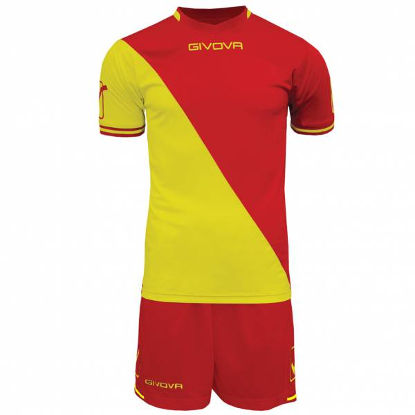Givova Soccer Set Jersey with Short Kit Craft red / yellow