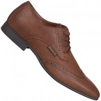 BEN SHERMAN Atiem Casual Schuhe 4 Eye Fashion Brogue dark tan