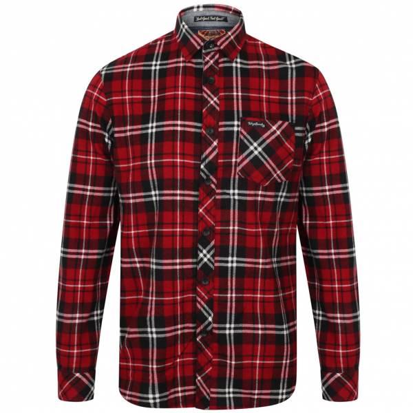 Tokyo Laundry Dieppe Flannel Herren Karo Hemd 1H10619 Red Dhalia