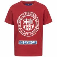 FC Barcelona Emblem Kinder T-Shirt Red FCB-2-025