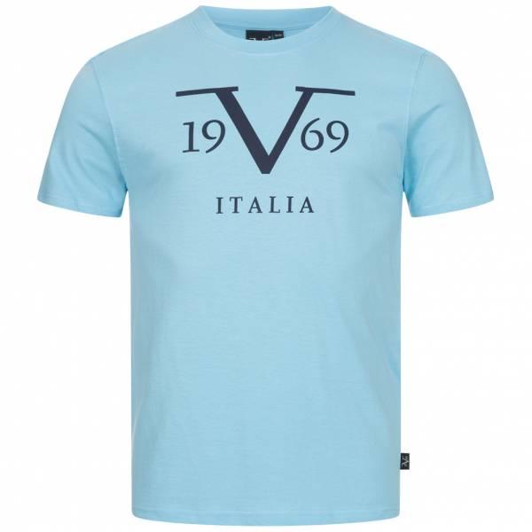 19V69 Versace 1969 Big Logo Stampato Herren T-Shirt VI20SS0011B hellblau
