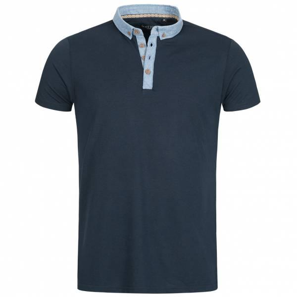 BRAVE SOUL Chimera Herren Denim Chambray Polo-Shirt MTS-69CHIMERAF Navy