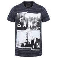 DNM Dissident San Fran Split Herren T-Shirt 1C10654 Navy