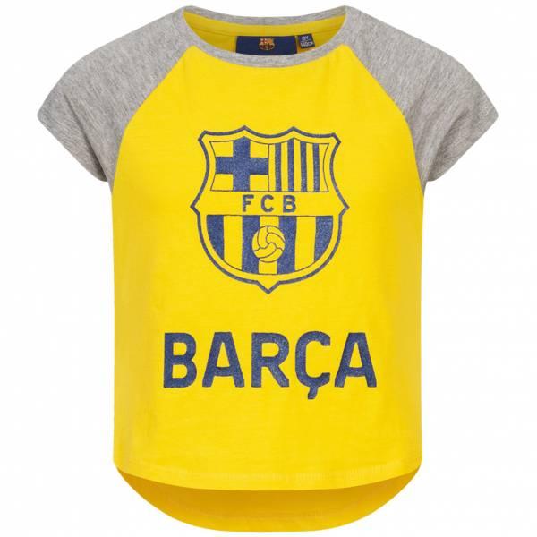 FC Barcelona Vintage Mädchen T-Shirt FCB-3-112B