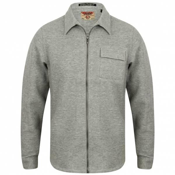 Tokyo Laundry Rockfield Full Zip Collar Herren Zipper 1E9763 Light Grey