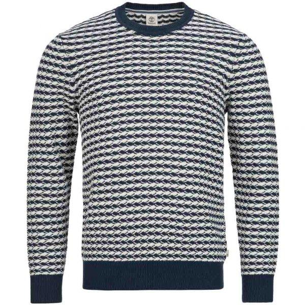 Timberland Mill River Herren Textured Linen Jumper Sweatshirt A1A5J-433