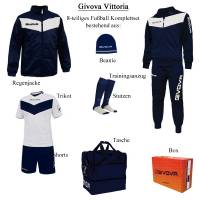 Givova Box Vittoria Fußball Set 8-tlg. navy/weiß