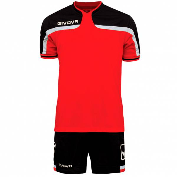 Givova Football Set Jersey with Short Kit America red / black
