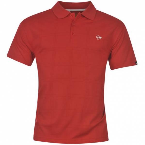 Dunlop Golf Tour Herren Polo-Shirt kariert rot