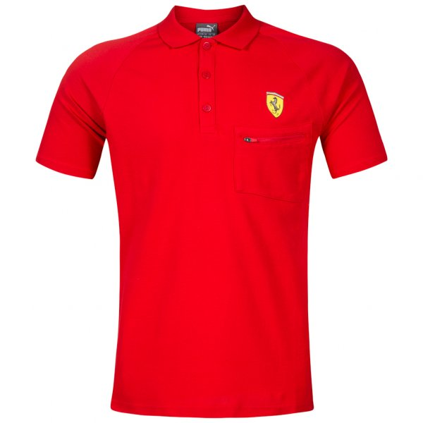 PUMA SF Scuderia Ferrari Herren Polo-Shirt Rosso Corsa 762135-01