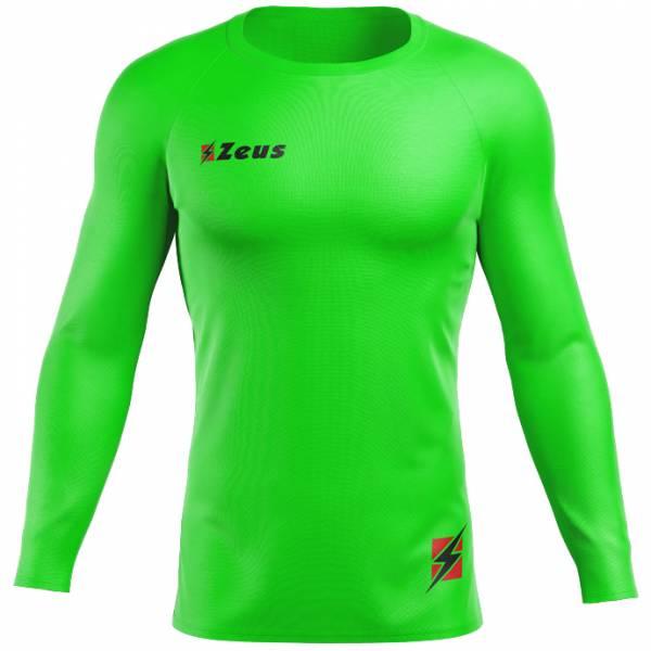 Zeus Fisiko Haut base-layer Haut de sport à manches longues vert fluo