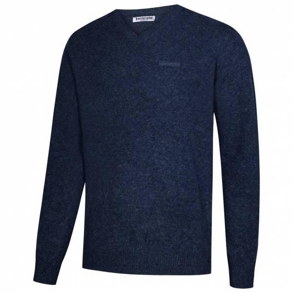 Lambretta Lambswool Sweater Herren Lammwolle Sweatshirt RWIK0045-BLUE MARL