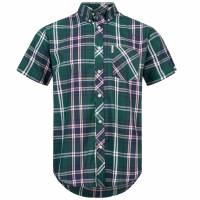 BRUTUS JEANS Short-sleeved Shirt 10005 Green Tartan