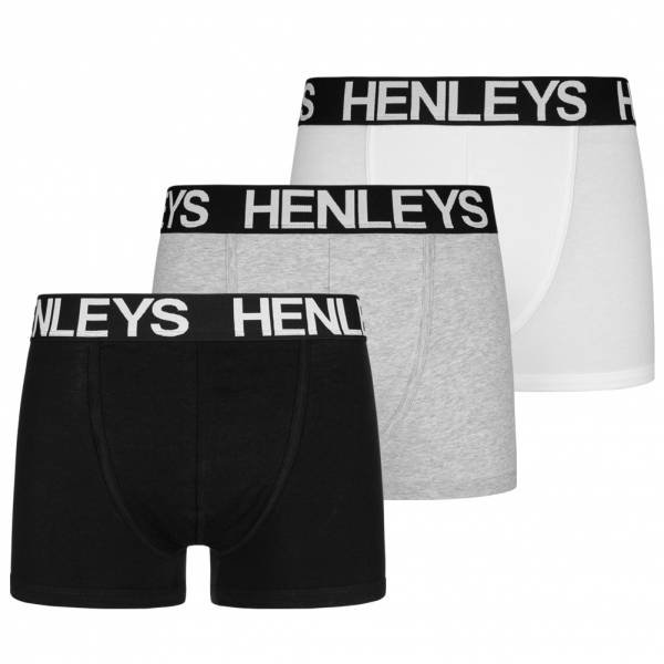 HENLEYS Marshal Lot de 3 Hommes Boxer-shorts HST00701