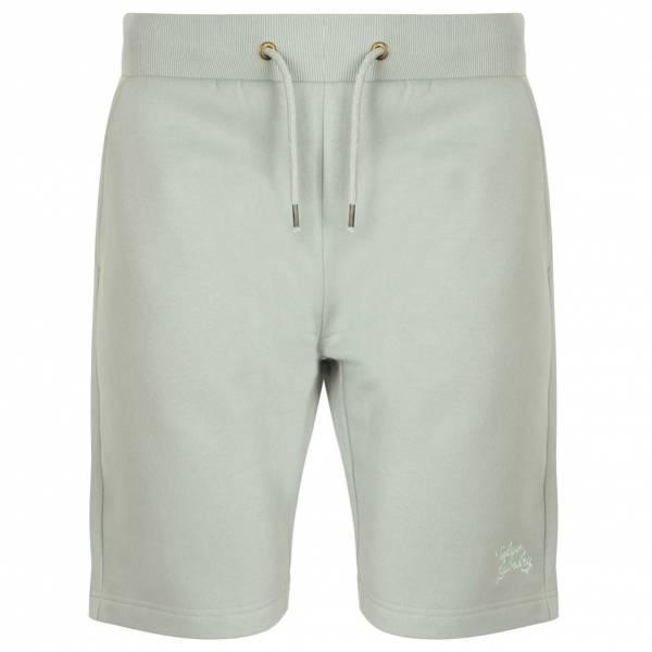 Tokyo Laundry Falcon Herren Fleece Jogger Shorts 1G10465 Pale Mint