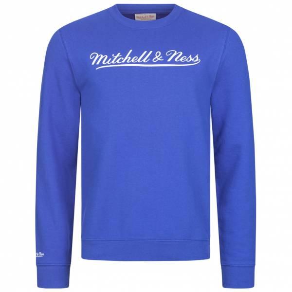 Mitchell & Ness Script Crew Herren Sweatshirt MN-BRA-SCRPTLOGOCREW-ROYWHT