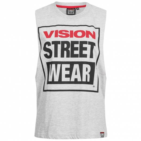 Vision Street Wear Women Fitness Crew Neck Tank Top CL3101 gray marl