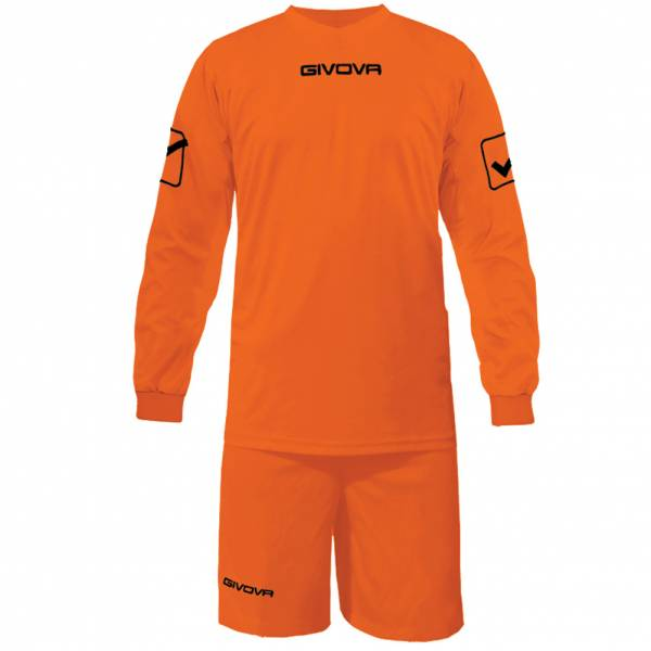 Givova Fußball Set Langarmtrikot mit Short Kit Givova orange