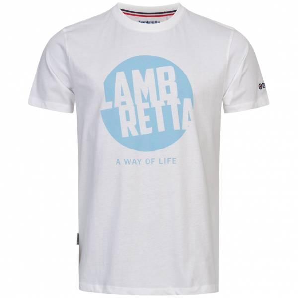 Lambretta Graphic Herren T-Shirt SS7471-WHITE