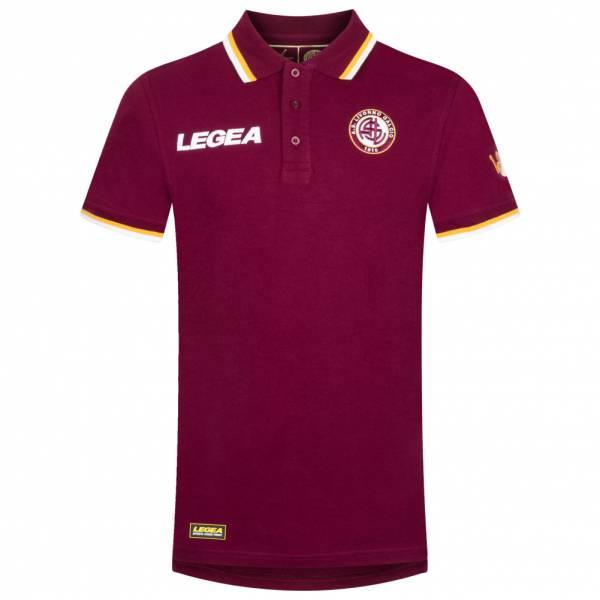 AS Livorno Calcio Legea Mężczyźni Koszulka polo z krótkim rękawem ciemnoczerwony