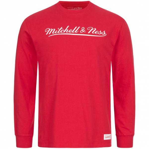 Mitchell & Ness Script Men Long-sleeved Top MN-BRA-SCRPTLOGOLST-BRA-REDWHT