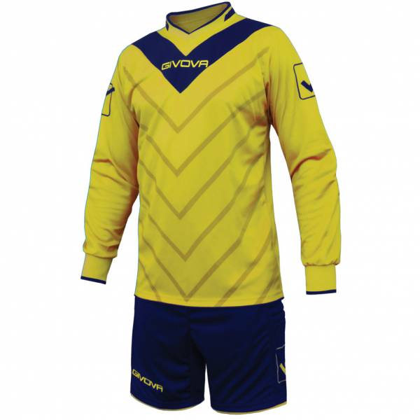 Givova Football Kit Keeper's Jersey with Short Kit Sanchez yellow / navy