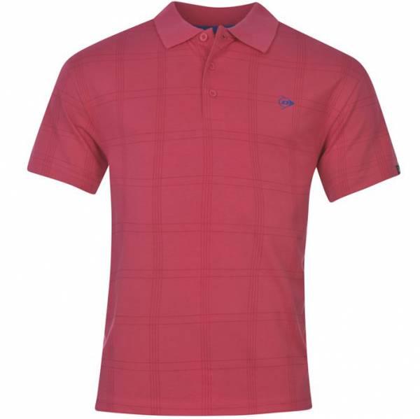 c98e2df553e Dunlop Golf Tour Men s Polo Shirt Checkered Pink
