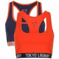 Tokyo Laundry Sofia Racer Back Damen Sports Bra 2er Pack Set 3P10368