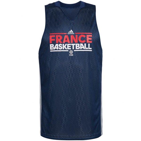 Frankreich adidas Herren Basketball Wende Trikot S04528