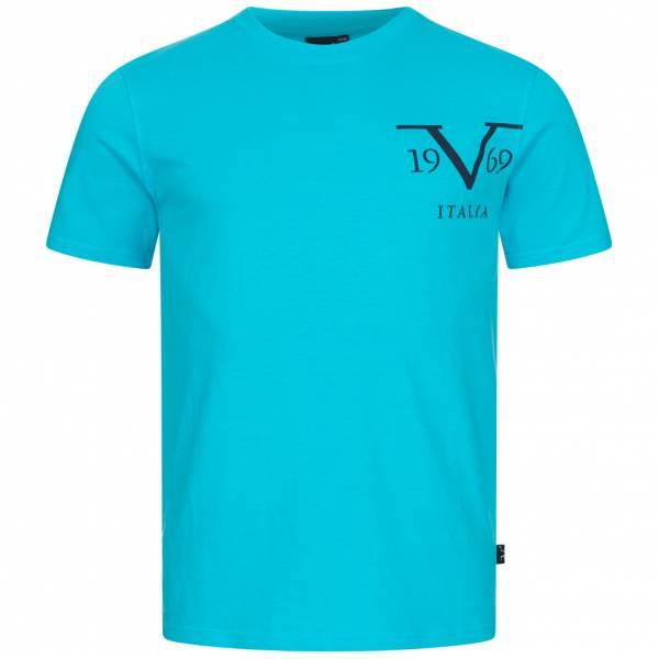 19V69 Versace 1969 Big Logo Herren T-Shirt VI20SS0010B türkis