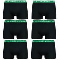 Sergio Tacchini Herren Boxershorts 6er-Pack schwarz/grün