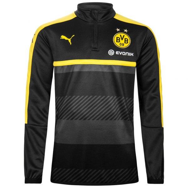 BVB Borussia Dortmund PUMA Kinder 1/4 Zip Trainings Sweatshirt 749853-02