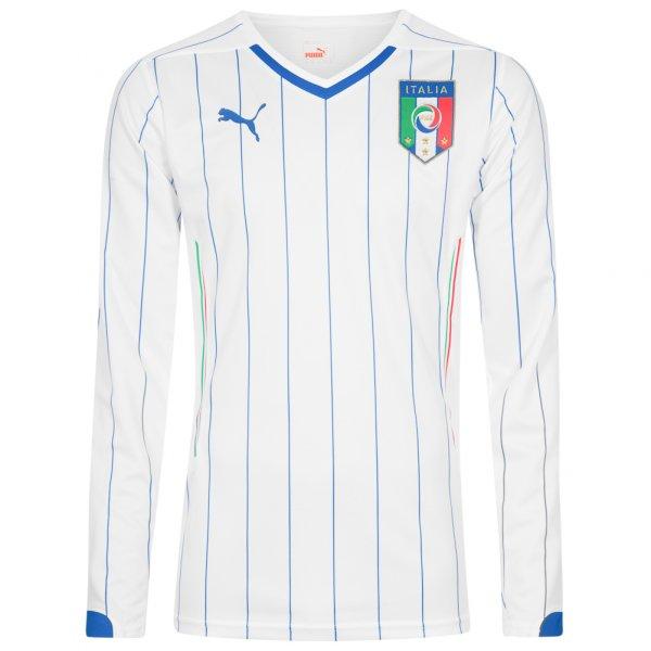 Italien PUMA Herren Langarm Auswärts Trikot Player Issue 744199-02