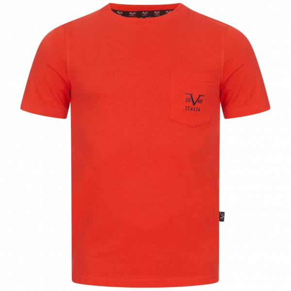 19V69 Versace 1969 Big Logo Herren T-Shirt VI20SS0009A rot