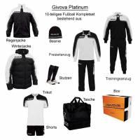 Givova Box Platinum Fußball Set 10-tlg. weiß/schwarz