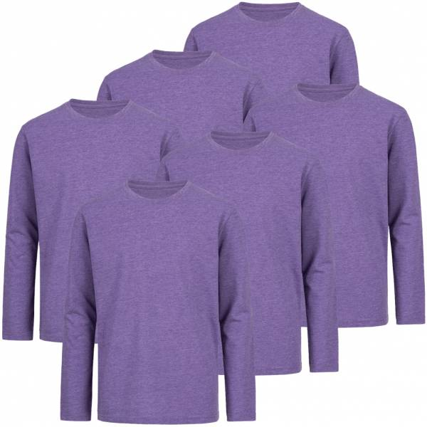 RUSSELL Longsleeve Tee 6er-Pack Kinder Shirt 0R167B0-Purple-Marl