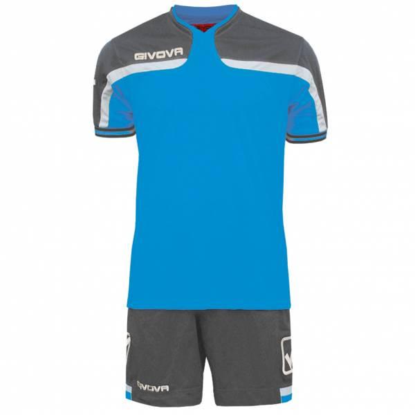 Givova voetbalset jersey met korte set America grijs / blauw